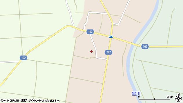 山形県東置賜郡川西町黒川829周辺の地図