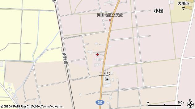山形県東置賜郡川西町小松653周辺の地図