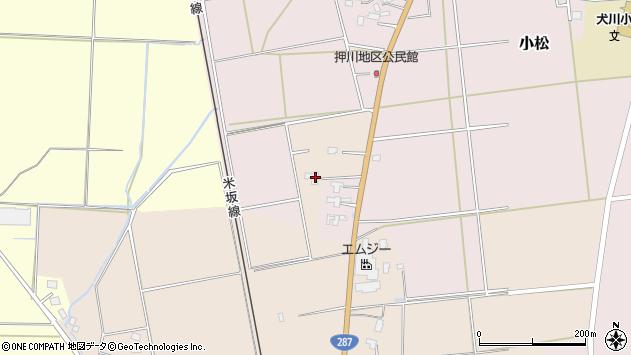 山形県東置賜郡川西町中小松2051周辺の地図