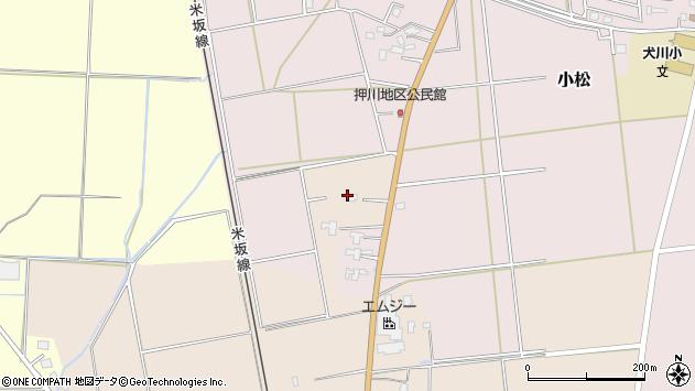 山形県東置賜郡川西町中小松2059周辺の地図