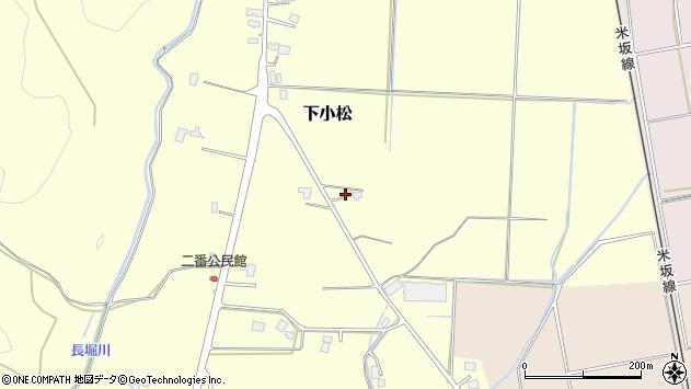 山形県東置賜郡川西町下小松517周辺の地図