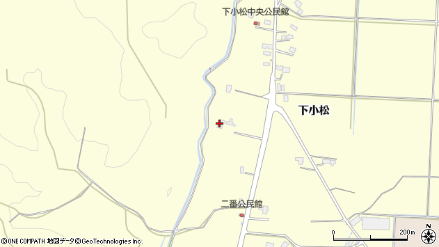 山形県東置賜郡川西町下小松608周辺の地図