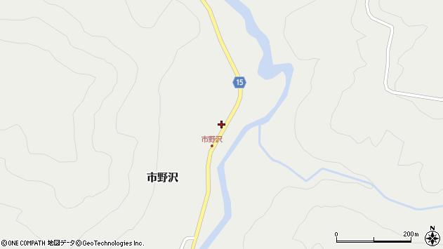 山形県西置賜郡小国町市野沢周辺の地図