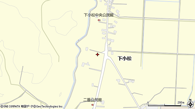 山形県東置賜郡川西町下小松二番周辺の地図