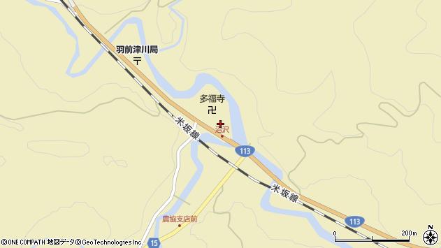 山形県西置賜郡小国町沼沢699周辺の地図