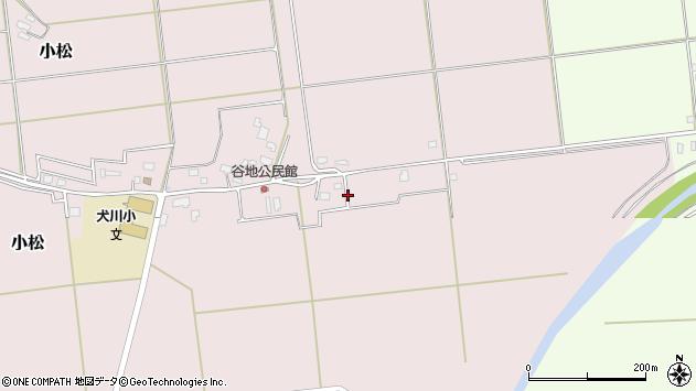 山形県東置賜郡川西町小松谷地在家周辺の地図