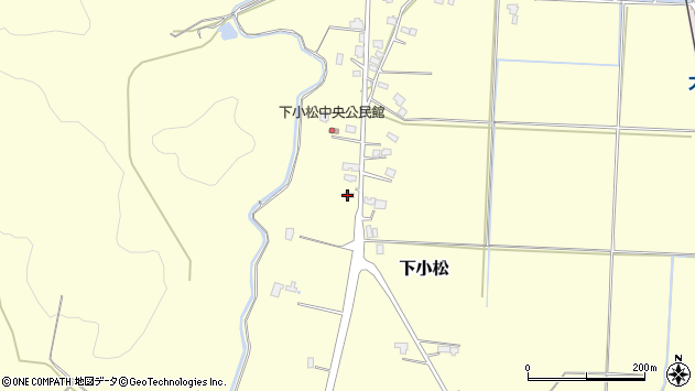 山形県東置賜郡川西町下小松617周辺の地図