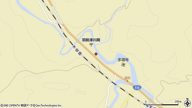 山形県西置賜郡小国町沼沢751周辺の地図