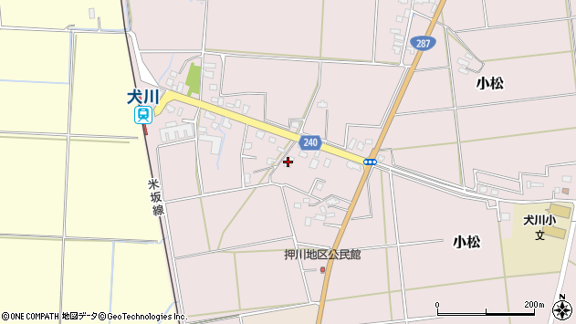 山形県東置賜郡川西町小松1977周辺の地図