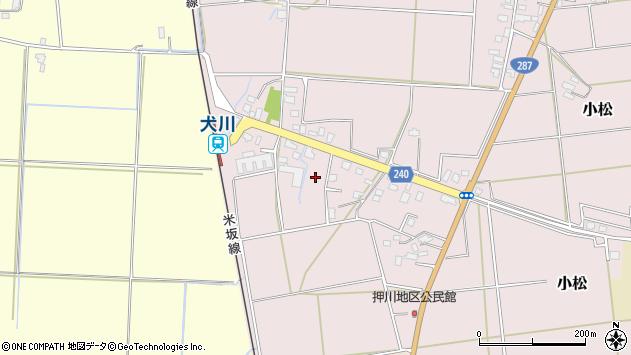 山形県東置賜郡川西町小松駅前周辺の地図
