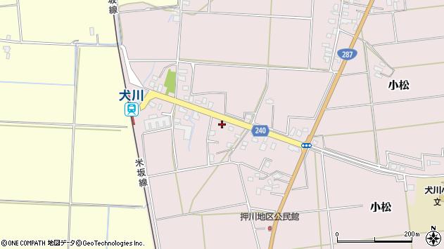 山形県東置賜郡川西町小松1820周辺の地図