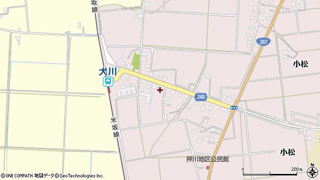 山形県東置賜郡川西町小松1826周辺の地図