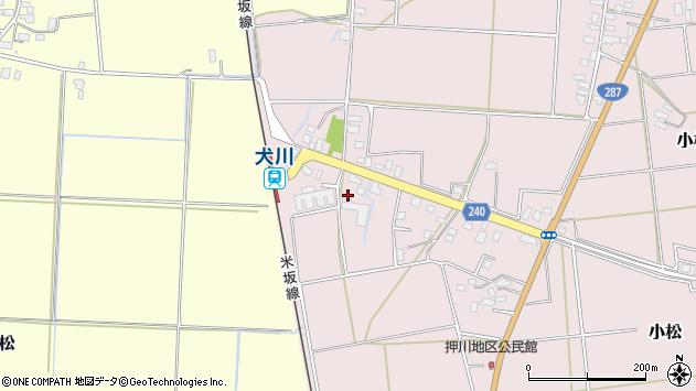 山形県東置賜郡川西町小松1743周辺の地図