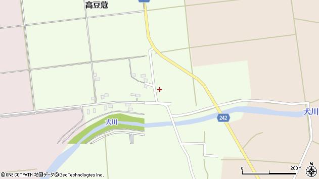 山形県東置賜郡川西町高豆蒄1257周辺の地図