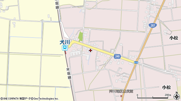 山形県東置賜郡川西町小松1835周辺の地図