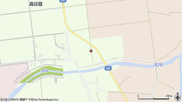 山形県東置賜郡川西町高豆蒄1310周辺の地図