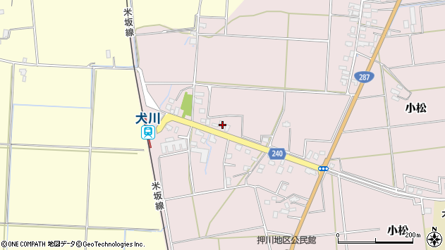 山形県東置賜郡川西町小松1829周辺の地図