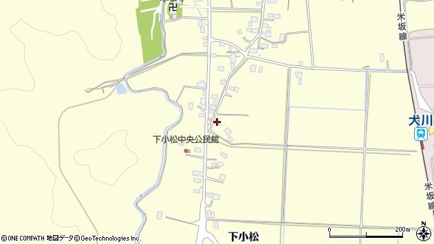 山形県東置賜郡川西町下小松817周辺の地図
