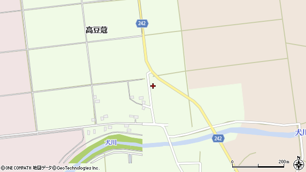 山形県東置賜郡川西町高豆蒄978周辺の地図