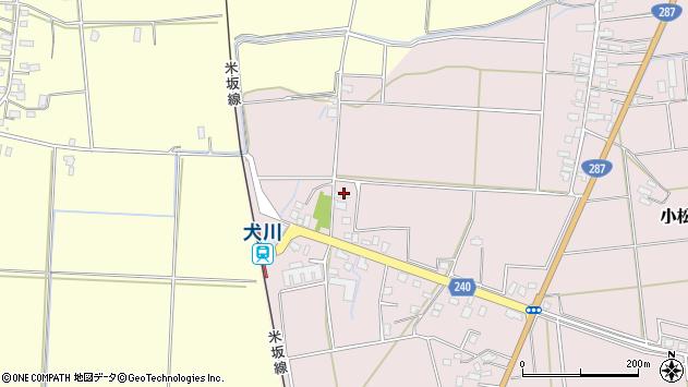 山形県東置賜郡川西町小松1676周辺の地図