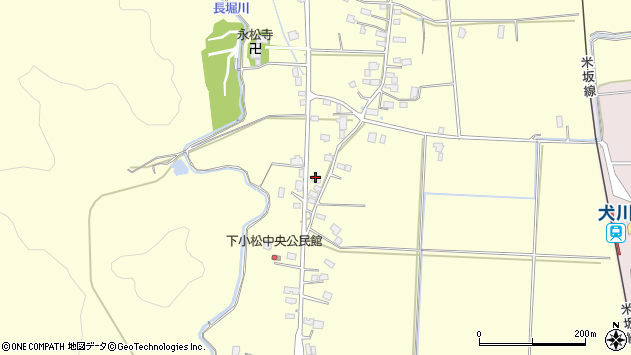 山形県東置賜郡川西町下小松849周辺の地図