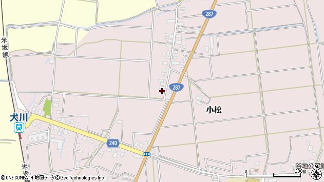 山形県東置賜郡川西町小松1634周辺の地図
