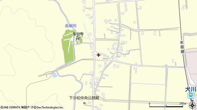 山形県東置賜郡川西町下小松929周辺の地図