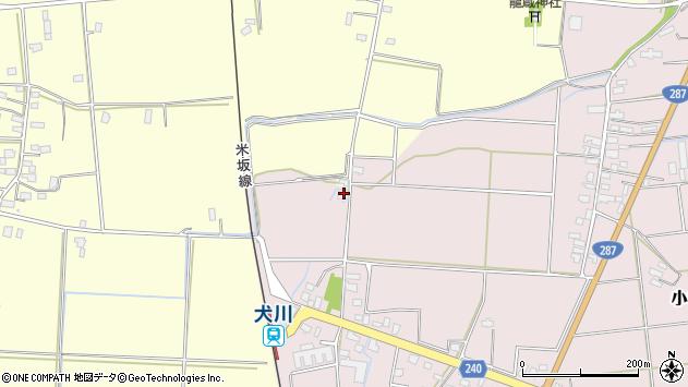 山形県東置賜郡川西町小松1681周辺の地図