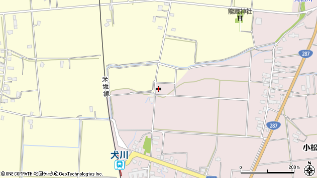 山形県東置賜郡川西町小松1598周辺の地図