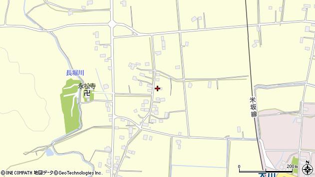 山形県東置賜郡川西町下小松1089周辺の地図