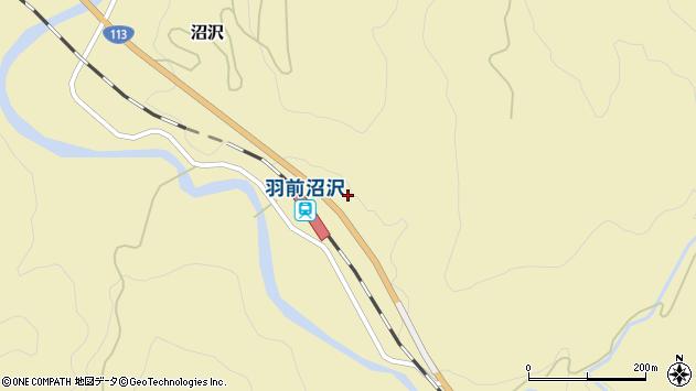 山形県西置賜郡小国町沼沢870周辺の地図