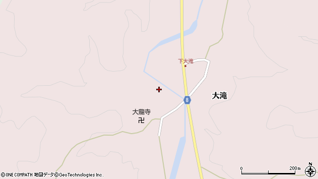 山形県西置賜郡小国町大滝393周辺の地図