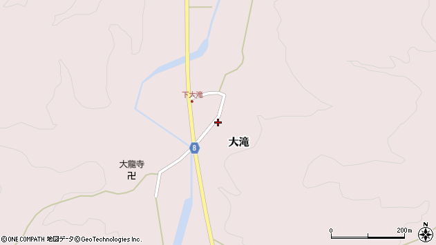 山形県西置賜郡小国町大滝周辺の地図