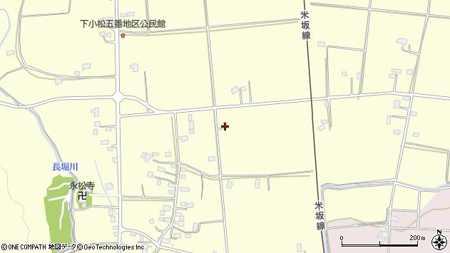 山形県東置賜郡川西町下小松1095周辺の地図