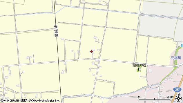 山形県東置賜郡川西町下小松1222周辺の地図