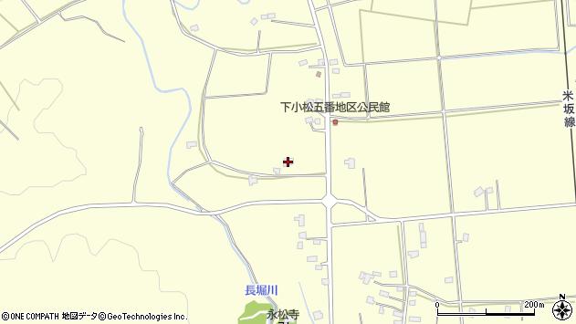 山形県東置賜郡川西町下小松1356周辺の地図