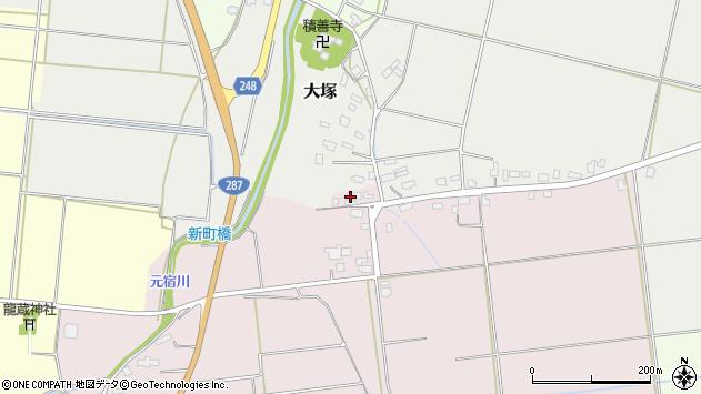 山形県東置賜郡川西町小松1301周辺の地図