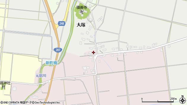 山形県東置賜郡川西町小松1300周辺の地図