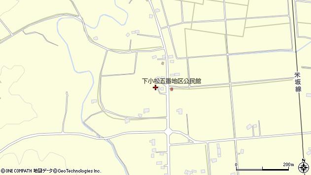 山形県東置賜郡川西町下小松1366周辺の地図