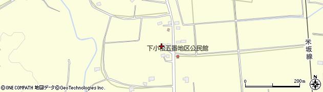 山形県東置賜郡川西町下小松1406周辺の地図