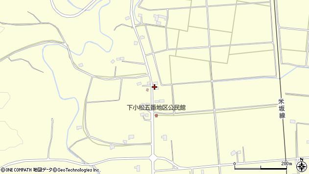 山形県東置賜郡川西町下小松1397周辺の地図
