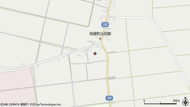 山形県東置賜郡川西町大塚他屋町周辺の地図
