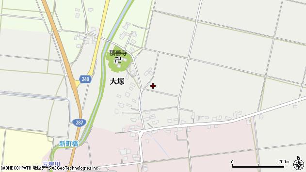 山形県東置賜郡川西町大塚荒井周辺の地図