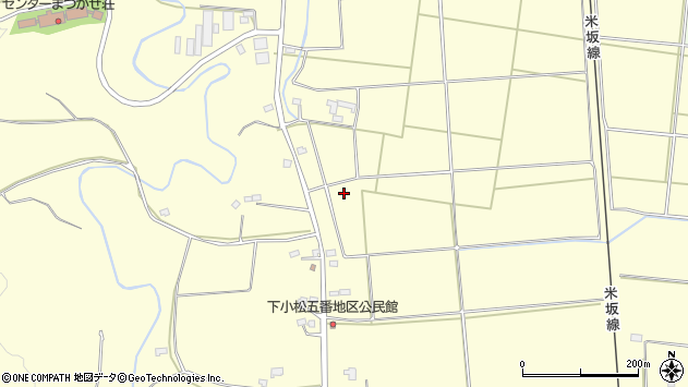 山形県東置賜郡川西町下小松五番周辺の地図