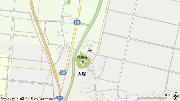 山形県東置賜郡川西町西大塚6周辺の地図
