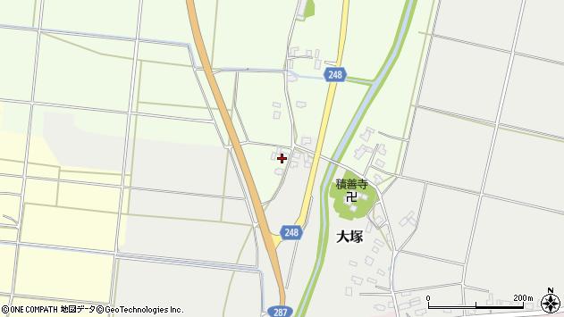 山形県東置賜郡川西町西大塚83周辺の地図