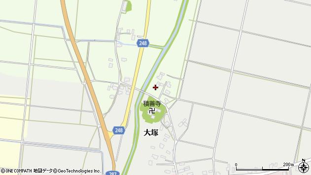 山形県東置賜郡川西町西大塚7周辺の地図