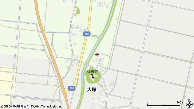 山形県東置賜郡川西町西大塚11周辺の地図