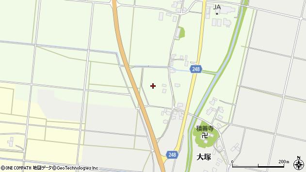 山形県東置賜郡川西町西大塚犬川周辺の地図