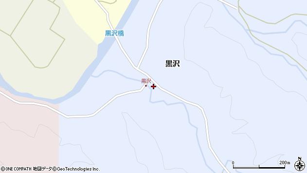 山形県西置賜郡小国町黒沢周辺の地図